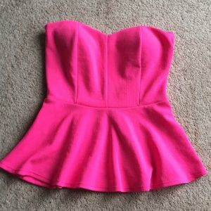 Agaci pink peplum top